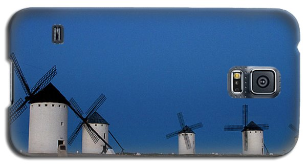 Galaxy S5 Case featuring the photograph La Mancha Windmills by Heiko Koehrer-Wagner