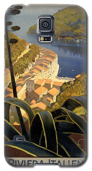 La Riviera Italienne Vintage Travel Poster Restored Galaxy S5 Case