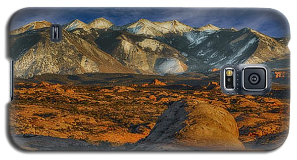 Galaxy S5 Case featuring the photograph La Sal Mountain View by Wendell Thompson