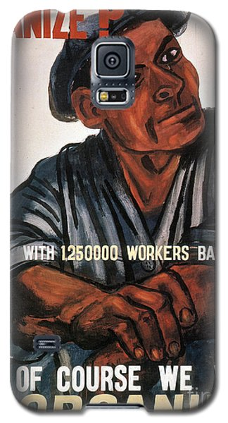 Labor Poster, 1930s Galaxy S5 Case