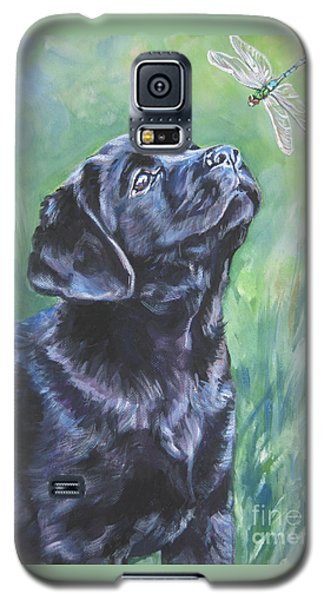 Labrador Retriever Pup And Dragonfly Galaxy S5 Case