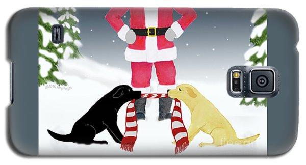 Labs Tug Santa Scarf Galaxy S5 Case