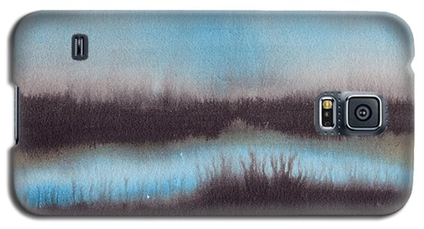 Galaxy S5 Case featuring the painting Lac Au Soir by Marc Philippe Joly