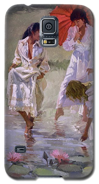 Ladies And Lilies Galaxy S5 Case