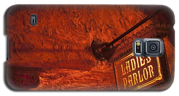 Ladies Parlor Sign Galaxy S5 Case by Carolyn Marshall