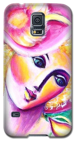 Lady And Butterfly Galaxy S5 Case