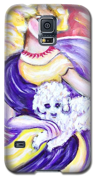 Galaxy S5 Case featuring the painting Lady And Maltese by Anya Heller