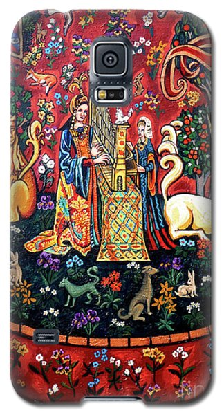 Galaxy S5 Case featuring the painting Lady And The Unicorn Sound by Genevieve Esson