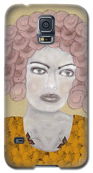 Galaxy S5 Case featuring the painting Lady Butterfly by Bri B