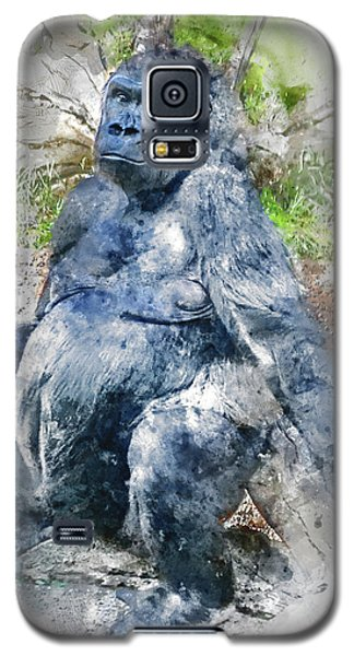 Lady Gorilla Sitting Deep In Thought Galaxy S5 Case
