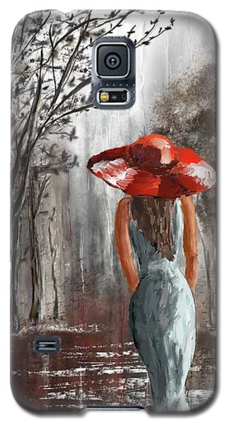 Lady In A Red Hat Galaxy S5 Case