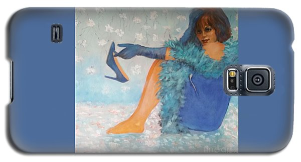 Lady In Blue Galaxy S5 Case