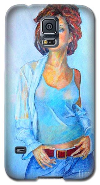 Lady In Blue II Galaxy S5 Case