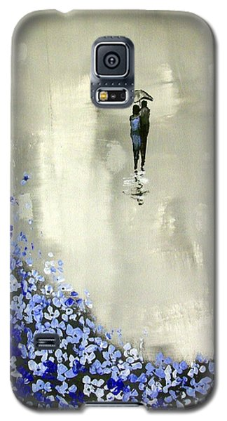 Galaxy S5 Case featuring the painting Lady In Blue by Raymond Doward