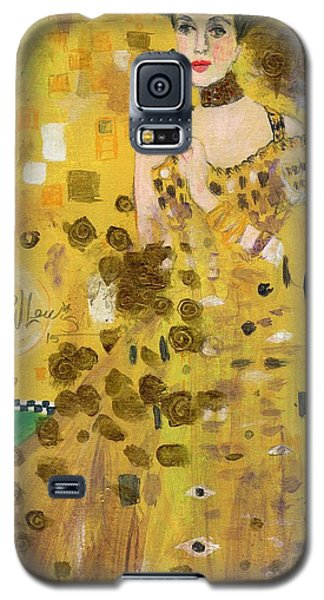 Lady In Gold Galaxy S5 Case by P J Lewis