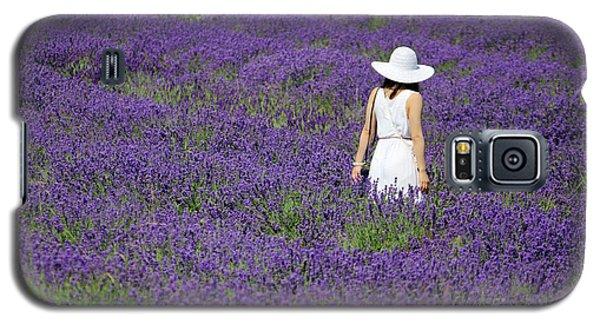 Lady In Lavender Field Galaxy S5 Case