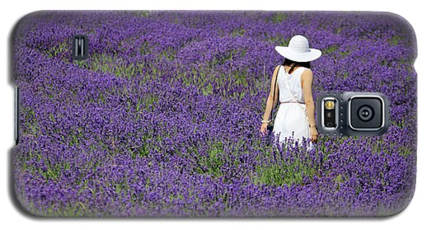 Lady In Lavender Field Galaxy S5 Case