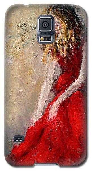 Lady In Red 2 Galaxy S5 Case by Jennifer Beaudet