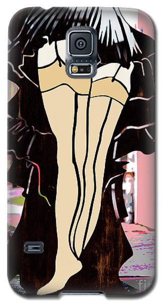 Lady In Stockings_1 Galaxy S5 Case