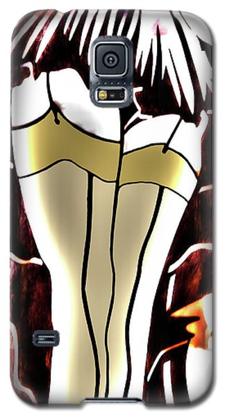 Lady In Stockings_2 Galaxy S5 Case
