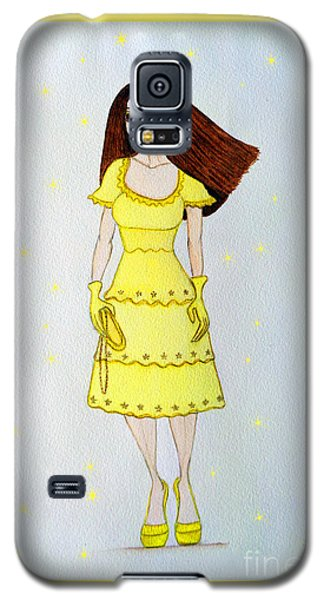 Galaxy S5 Case featuring the painting Lady In Yellow by Don Pedro De Gracia