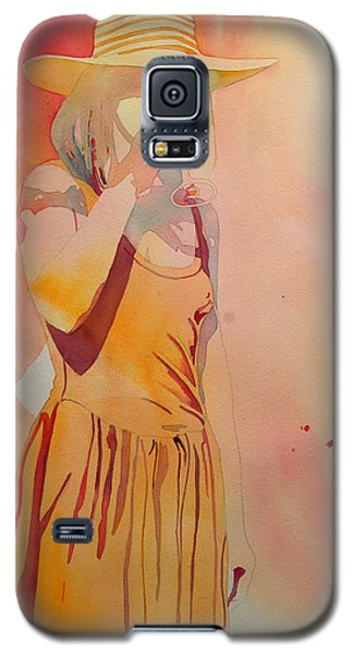 Lady In Yellow Galaxy S5 Case