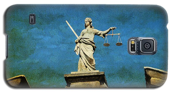 Lady Justice. Streets Of Dublin. Painting Collection Galaxy S5 Case
