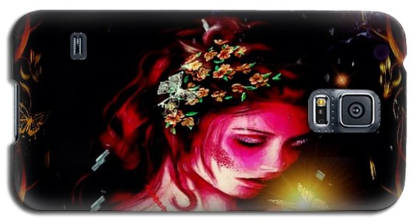 Lady Magic Butterfly Galaxy S5 Case