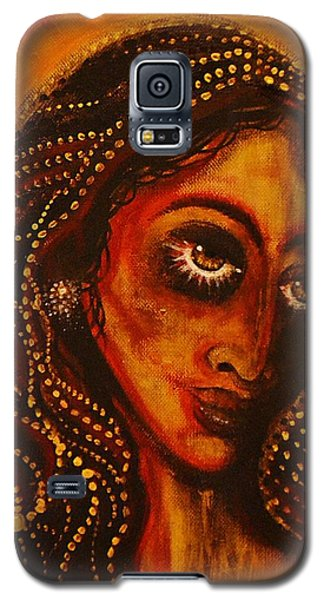 Lady Of Gold Galaxy S5 Case by Sandro Ramani