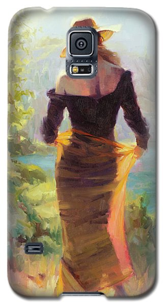 Impressionism Galaxy S5 Case - Lady Of The Lake by Steve Henderson