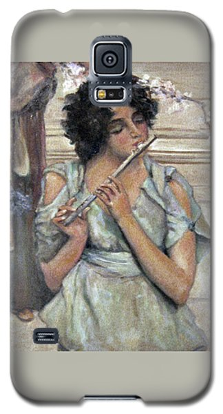 Lady Playing Flute Galaxy S5 Case