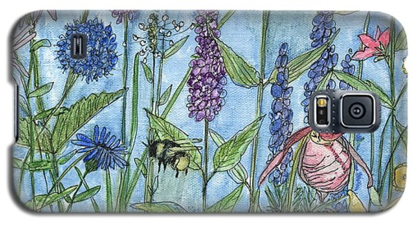 Galaxy S5 Case featuring the painting Lady Slipper In My Garden  by Laurie Rohner