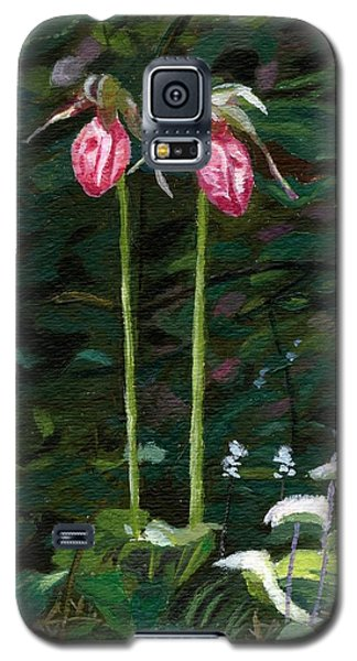 Galaxy S5 Case featuring the painting Lady Slipper by Lynne Reichhart