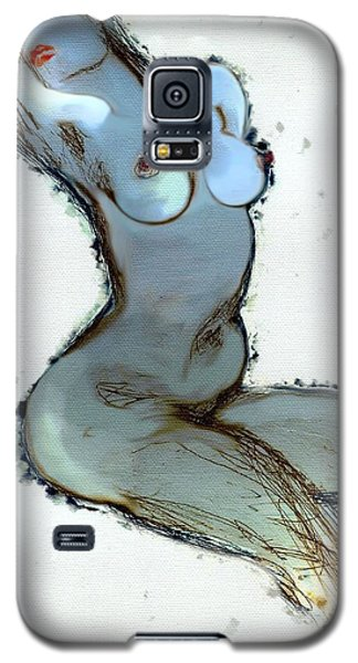 Galaxy S5 Case featuring the painting Lady Sophia - Female Nude by Carolyn Weltman
