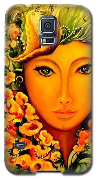 Galaxy S5 Case featuring the painting Lady Sring by Yolanda Rodriguez