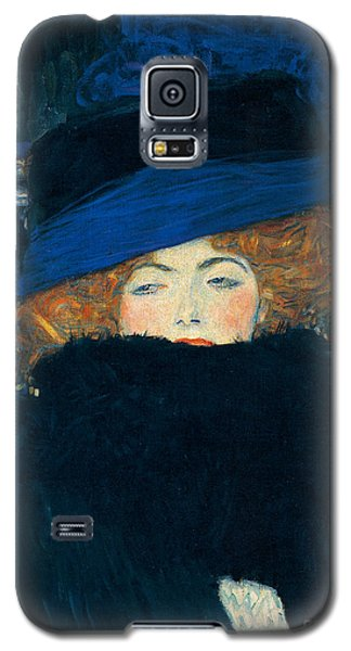 Lady With A Hat And A Feather Boa Galaxy S5 Case by Gustav Klimt