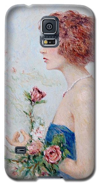 Lady With Roses  Galaxy S5 Case