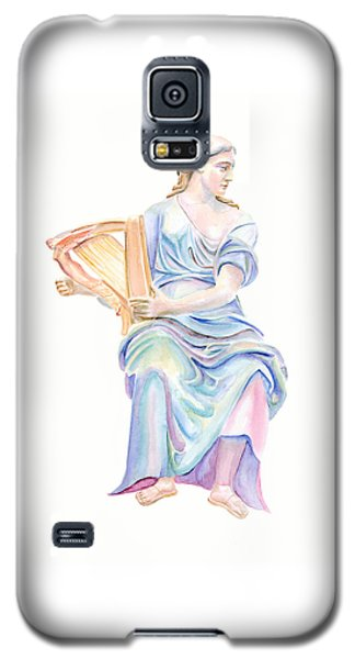 Lady With The Golden Harp Galaxy S5 Case by Elizabeth Lock