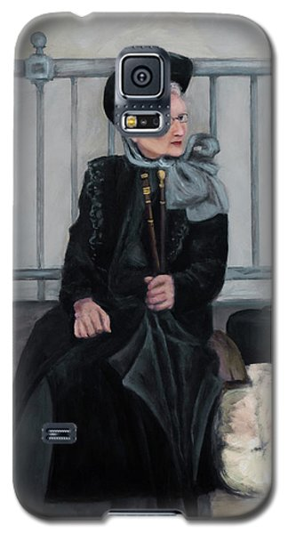 Lady With Two Umbrellas Galaxy S5 Case