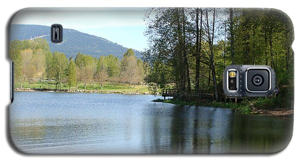 Galaxy S5 Case featuring the painting Lafarge Lake Serenity by Rod Jellison