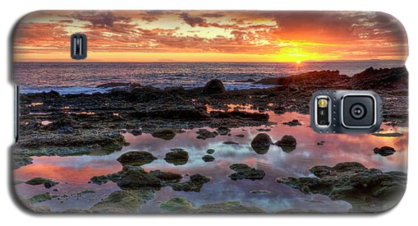 Laguna Beach Tidepools At Sunset Galaxy S5 Case by Eddie Yerkish
