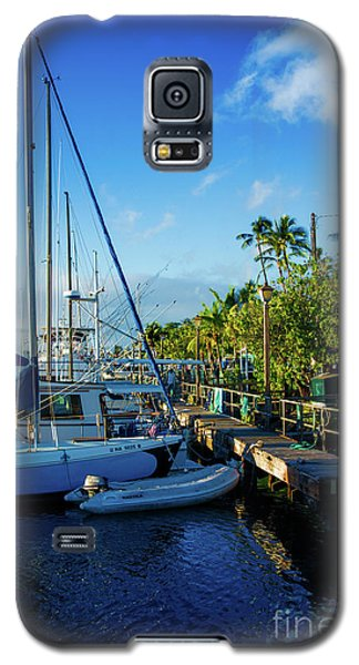 Galaxy S5 Case featuring the photograph Lahaina Marina Blue Twilight by Sharon Mau