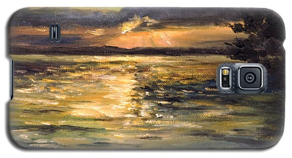 Galaxy S5 Case featuring the painting Lake by Arturas Slapsys