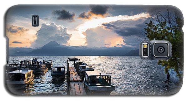Galaxy S5 Case featuring the photograph Lake Atitlan At Sunset by Yuri Santin