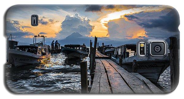 Galaxy S5 Case featuring the photograph Lake Atitlan by Yuri Santin