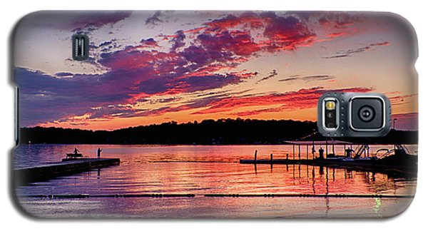 Lake Beach Sunset Galaxy S5 Case by Mark Miller