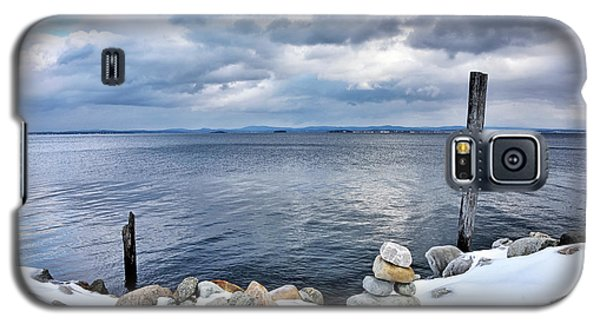 Galaxy S5 Case featuring the photograph Lake Champlain During Winter by Brendan Reals
