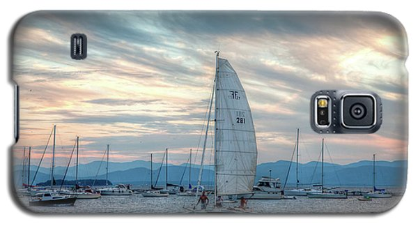 Galaxy S5 Case featuring the photograph Lake Champlain Sunset Sail by Susan Cole Kelly