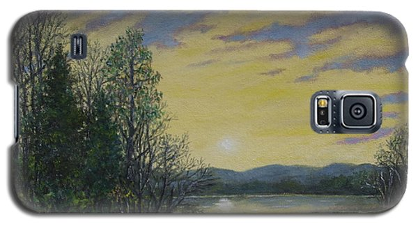 Galaxy S5 Case featuring the painting Lake Dawn by Kathleen McDermott