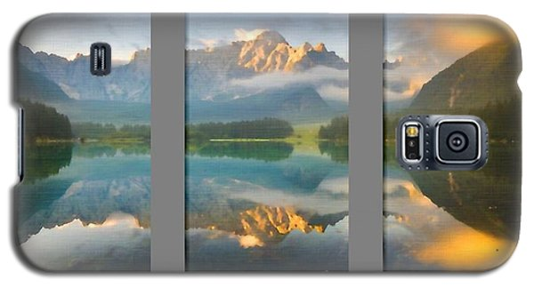 Lake Fusine In Triptych Galaxy S5 Case
